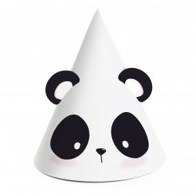 Mini Chapéus Panda - conj. 8