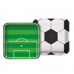 Pratos Futebol 18cm