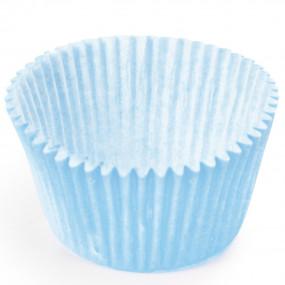 100 Mini Forminhas Brigadeiros Azul Bebé