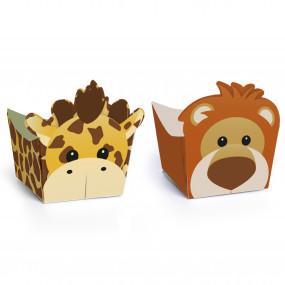 Forminhas Brigadeiro Girafa e Leão - Conj. 24