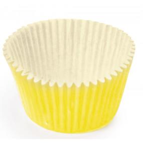 100 Mini Forminhas Brigadeiros Amarela