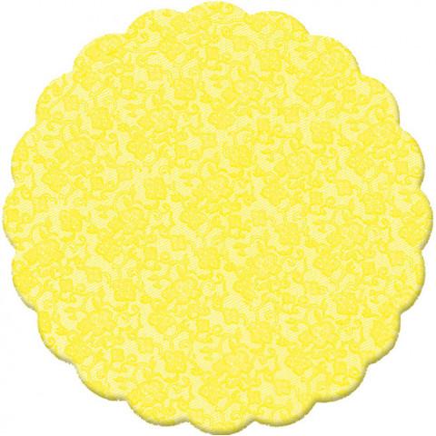 100 Tapetinhos Brigadeiro Amarelo