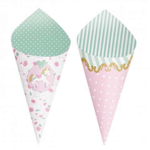Mini Cones Carrossel - conj.24