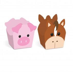 Forminhas Brigadeiro Cavalo e Porco  - Conj. 24