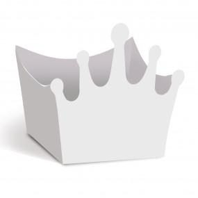 Forminhas Brigadeiro Coroa Branca- Conj. 24