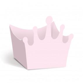 Forminhas Brigadeiro Coroa Rosa- Conj. 24