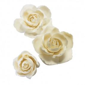 Rosa em Pasta de Flores - conj.3