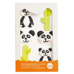 Figuras em Açúcar Panda Conj. 6