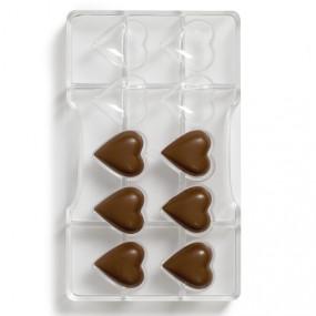 Molde Policarbonato Chocolate Corações