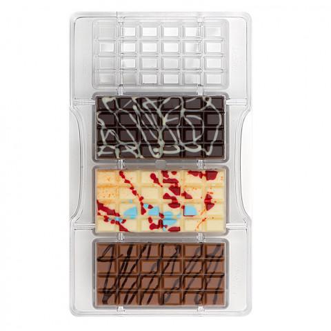 Molde Policarbonato Chocolate Barra