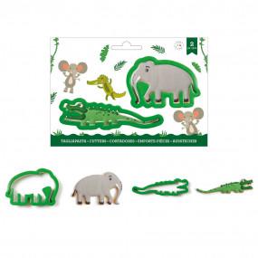 Cortador Crocodilo e Elefante