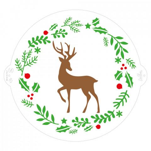 Stencil Natal para Bolo