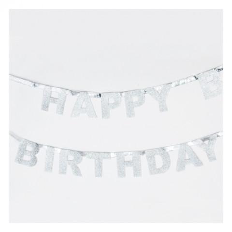 Grinalda Happy Birthday Prata