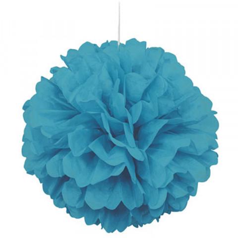 Pompom Grande Azul Turquesa