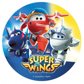 Folha Hóstia Super Wings Rosa 20cm