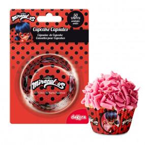 Formas Cupcake Ladybug Conj. 50