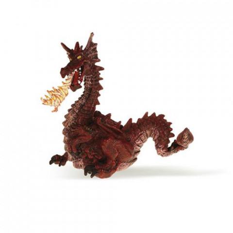 Dragão Vermelho com Fogo