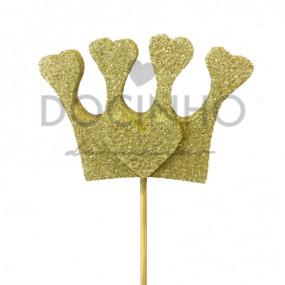 Coroa no Palito Dourada