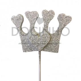 Coroa no Palito Prata