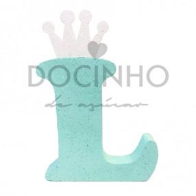 Letra Aqua Coroa Branca