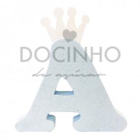 Letra Azul Coroa Branca