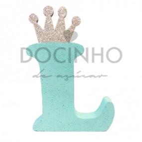 Letra Aqua Coroa Prata