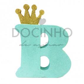 Letra Aqua Coroa Dourada