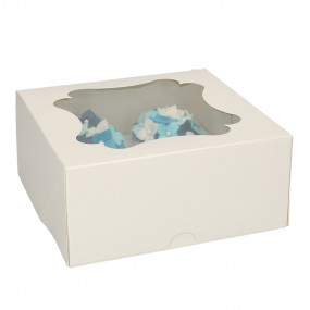 Caixa 4 Cupcakes Branca