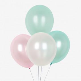 10 Balões Pastel Perolado