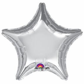 Balão Estrela Prateada 50cm
