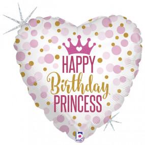 Balão Glitter Princesa 45cm