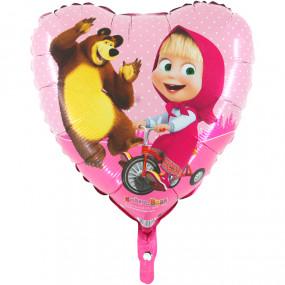 Balão Masha Coração 45cm