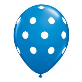 10 Balões Azul Bolinhas