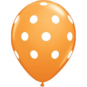 10 Balões Laranja Bolinhas