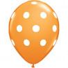6 Balões Laranja Bolinhas