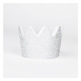 8 Coroas Glitter Prateado