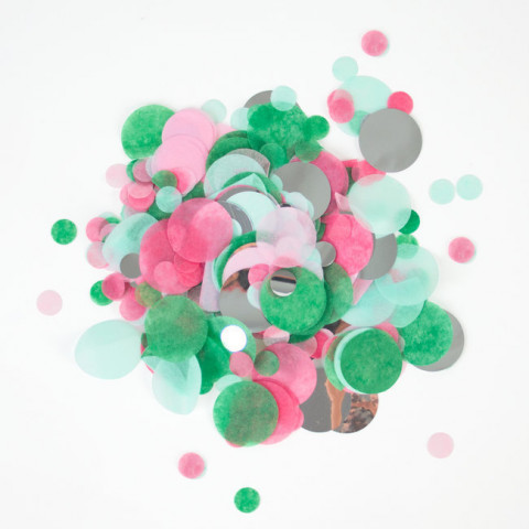 Confetis Verde e Rosa 2.5cm