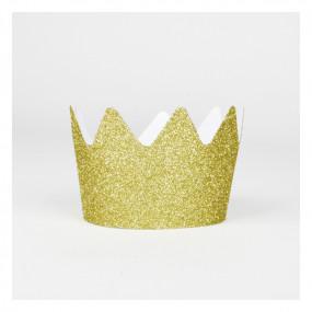 8 Coroas Glitter Dourado