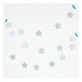 Grinalda Estrelas Prata