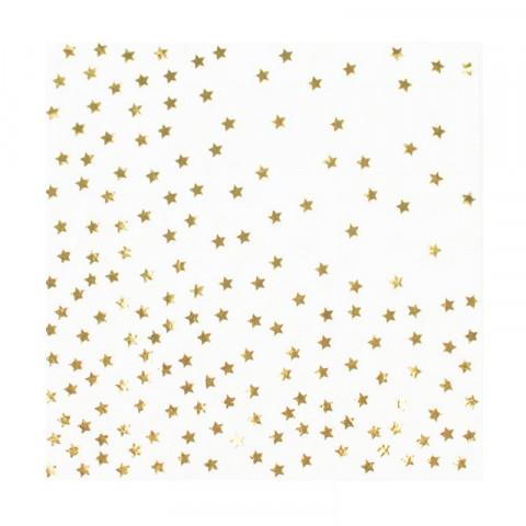 Guardanapos Estrelas Douradas