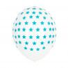 5 Balões Estrelas Azuis