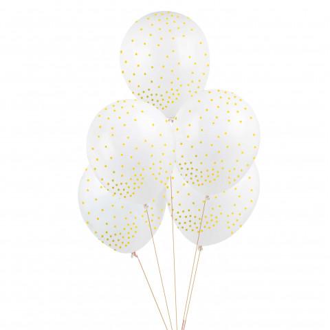 5 Balões Estrelas DOURADAS