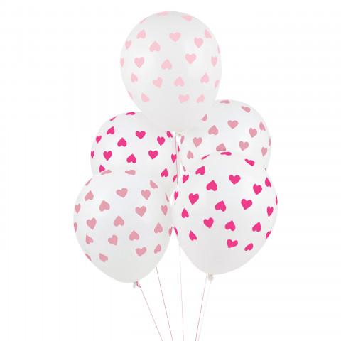 5 Balões Corações