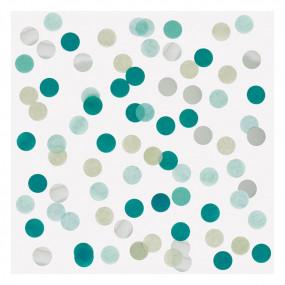 Confetis Verde Prata 2.5cm