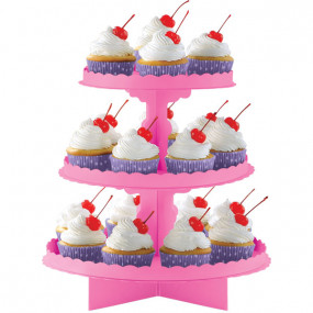 Expositor Cupcakes Rosa Forte