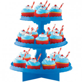 Expositor Cupcakes Azul Royal