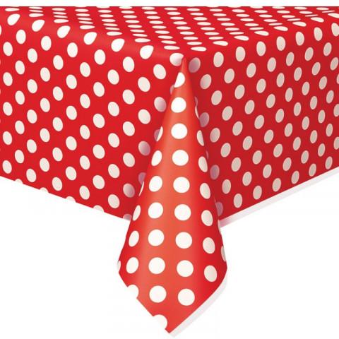 Toalha Vermelha Bolas