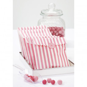 Sacos e Etiquetas Riscas Rosa