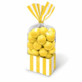 Sacos Celofane Riscas Amarelas