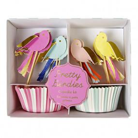 Kit Cupcakes Passarinhos